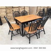 Bàn ghế ăn gỗ cao cấp