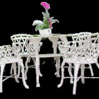 Bộ bàn ghế nhôm đúc 01